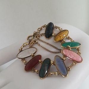 Beautiful Vintage Scarab Link Bracelet
